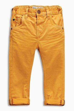 Купить Коричневато-желтые джинсы с пятью карманами (3 мес.-6 лет) - Покупайте прямо сейчас на сайте Next: Россия