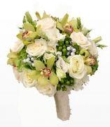 Per la sposa, bouquet di orchidee e rose