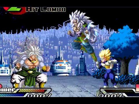 Dragon Ball Z Battle - Goku AF SSJ5 & Super Vegeta vs Broly SSJ5
