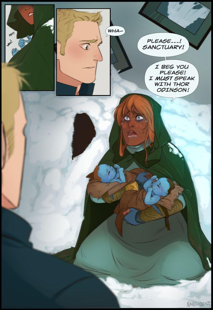 Flee Part 2 by Nanihoo | Loki marvel, Loki, sigyn, Marvel ...