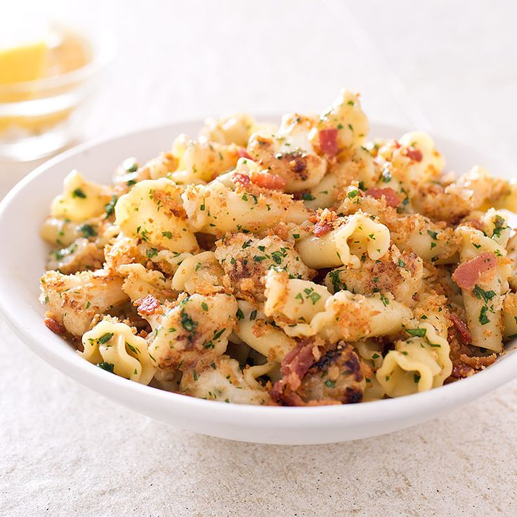 Pasta with Cauliflower, Bacon, and Bread Crumbs—your new favorite dinner.