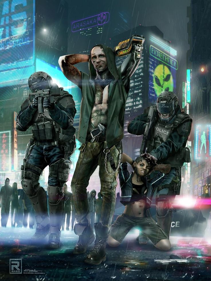 Art for Cyberpunk RED recently shared by J.Gray