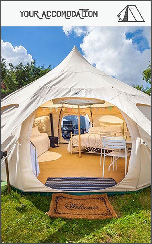camp site lotus belle tent brambells glamping