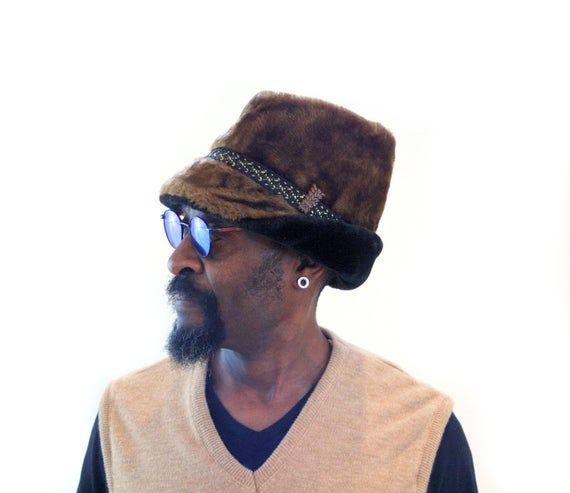 60s Faux Fur Hat L, Men's Sherpa Shearling Vintage Ambassador Jinnah Cap Veg…   – Products
