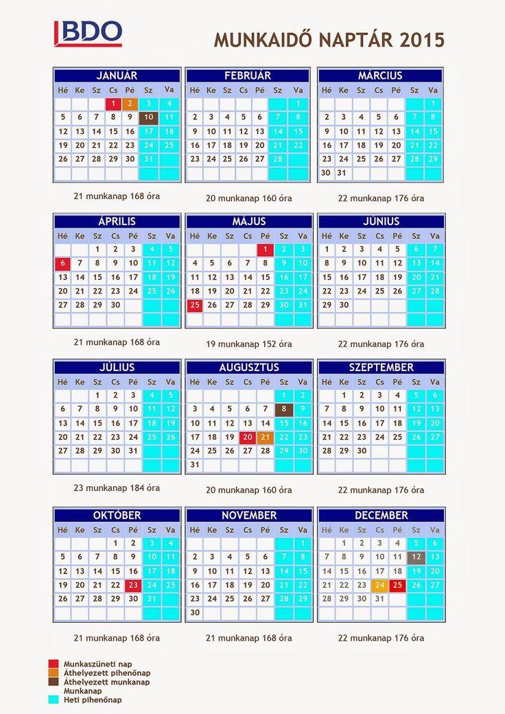 NOMÁD A HEGYEK VÁNDORA Természetjáró és túrafotós blog: 2015-ös munkaidő naptár