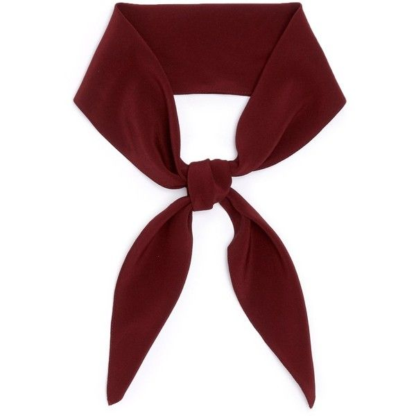 Chloé Silk crepe de Chine scarf found on Polyvore featuring accessories, scarves, red, tie scarves, silk scarves, red scarves, tying silk scarves and silk shawl