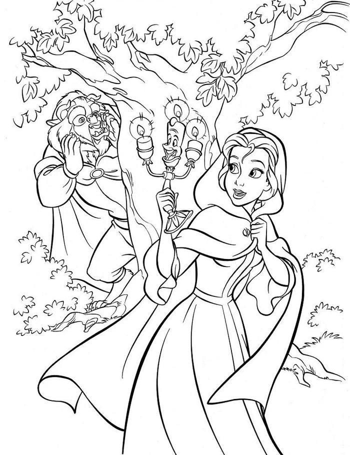 Beauty And The Beast Coloring Pages Hard Disney Coloring Pages
