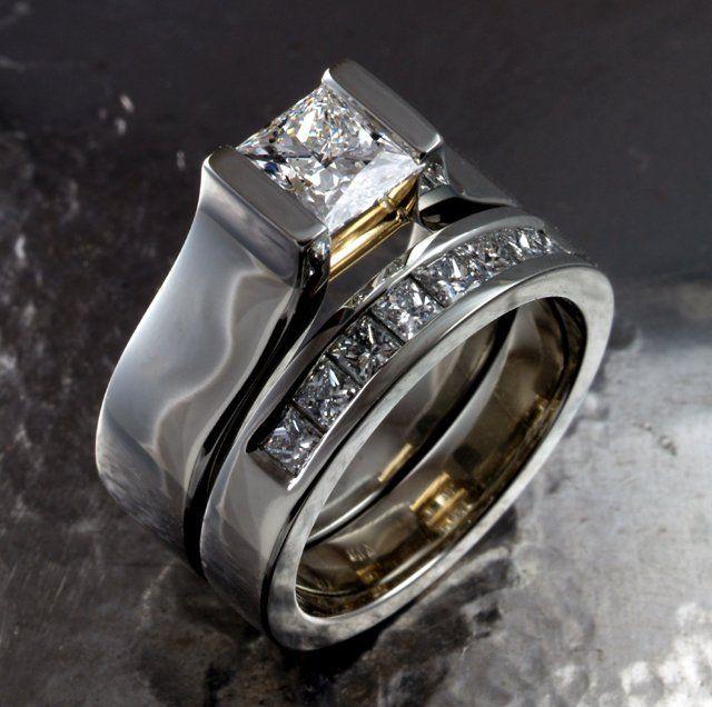Spectacular wedding ring set by David Keeling Fine Jewellery.