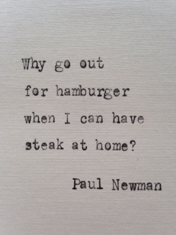 Paul Newman quote hand typed on antique typewriter