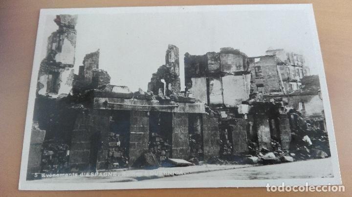 POSTAL VIZCAYA GUERRA CIVIL BOMBARDEO RUINAS DE GUERNICA PAIS VASCO. EDIC FRANCESA BILBAO 1937 - Foto 1