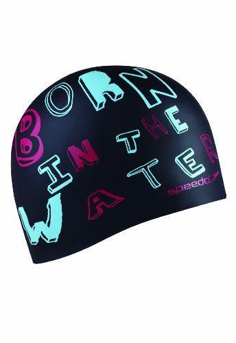 Speedo Born in the Water Silicone Swim Cap, Black by Speedo, http://www.amazon.com/dp/B008MVAM02/ref=cm_sw_r_pi_dp_0JFnsb1R043EK