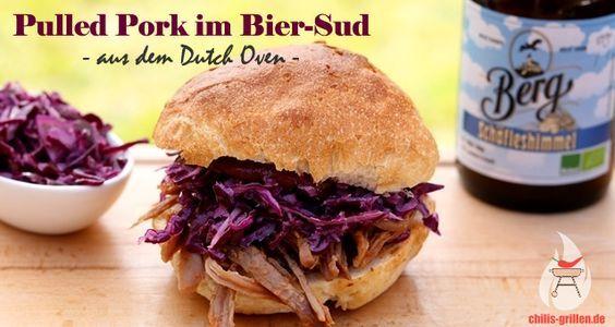 Pulled Pork im Bier-Sud aus dem Dutch Oven