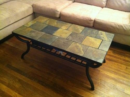 Slate Tile Table Coffee Table Ideas Tile Top Tables