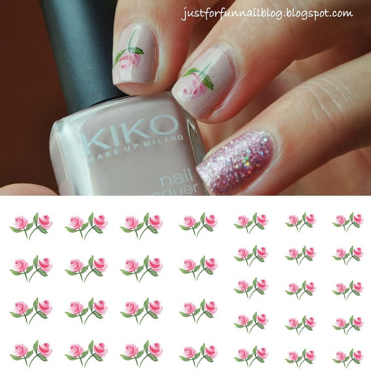 Pink Roses Water Slide Nail Art Decals - Salon Quality 5.5' X 3' Sheet! Valentines Day! ** See this great product.