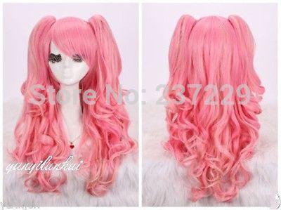 Оптовая цена СВОБОДНОЕ p & P ****** Новый Лолита Harajuku Парик Вьющиеся Волнистые Длинные Волосы Полный Парики Аниме Косплей Костюм