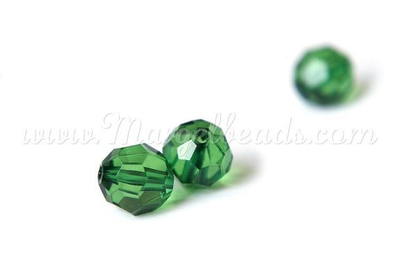 €1.00 10 pcs 12mm Faceted Acrylic Beads Green by Margelbeads