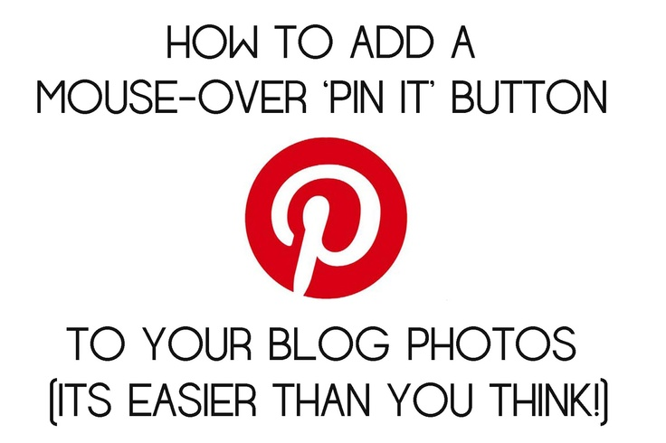 just me.: Adding a Pin It Button