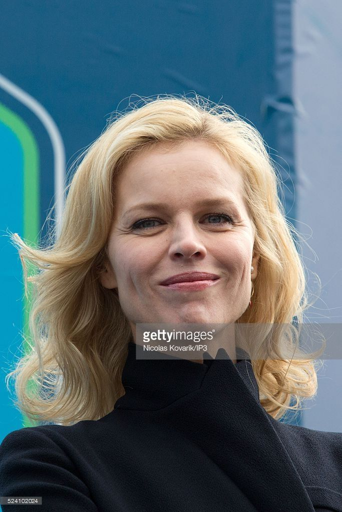 Model Eva Herzigova at the first European round 2015/2016 of Grand Prix Formule E, the first international championship of cars 100% electric, took place at the Invalides, on April 23, 2016, in Paris, France.