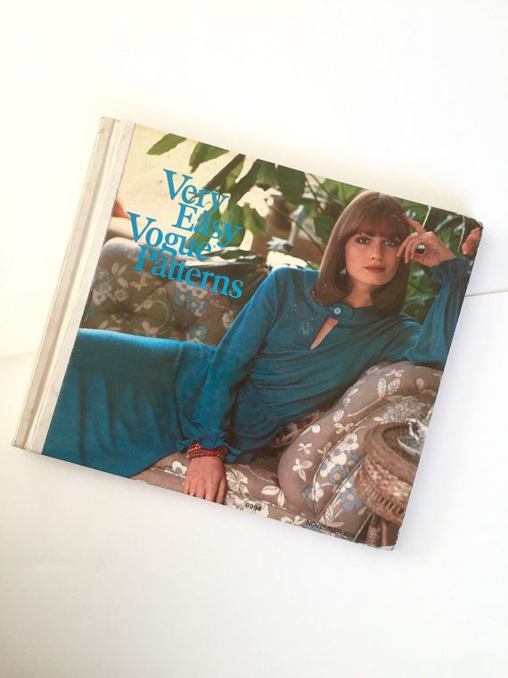 1974 Vogue Easy Patterns Hardcover Book Rare Vintage