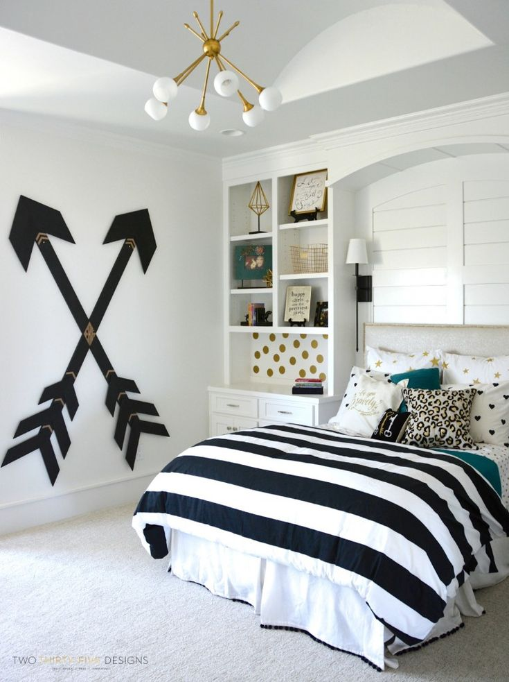 Superb Tween Girl Bedroom With Wooden Wall Arrows By Two Thirty Five Designs Part 24