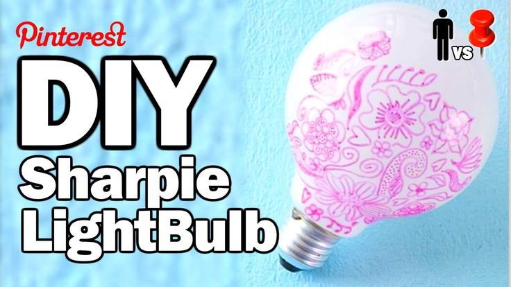 DIY Sharpie Bulb - Man Vs. Pin #28 w/OlgaKay ----> PLEASE BEFORE YOU START A PROJECT, IF THREADBANGER MADE A VIDEO WATCH IT BECAUSE THEY ARE REALLY HELPFUL AND TEST THESE THINGS OUT