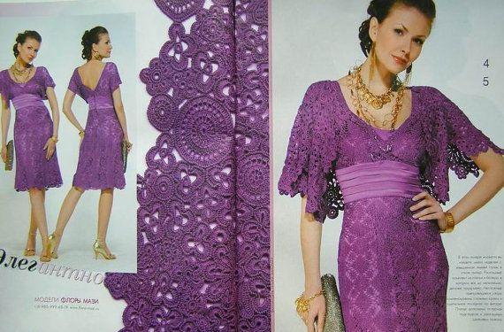 Crochet patterns Fashion Magazine, Zhurnal Mod No 531 jackets, Irish lace dress, top, skirt, cardigan on Etsy, $19.50
