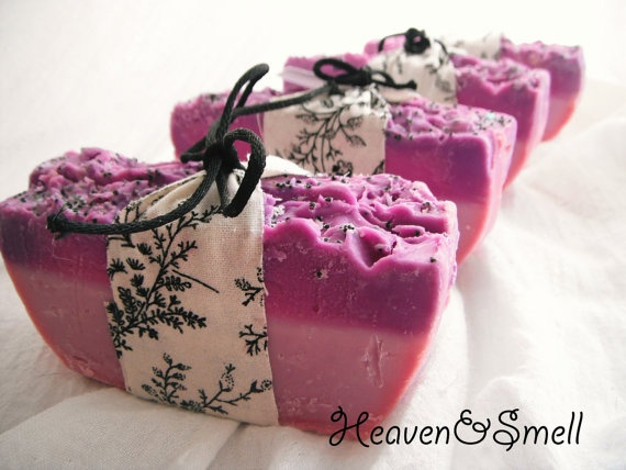 2x Handmade Blackberry Rave CP Soap by HeavenAndSmell on Etsy, $5.25