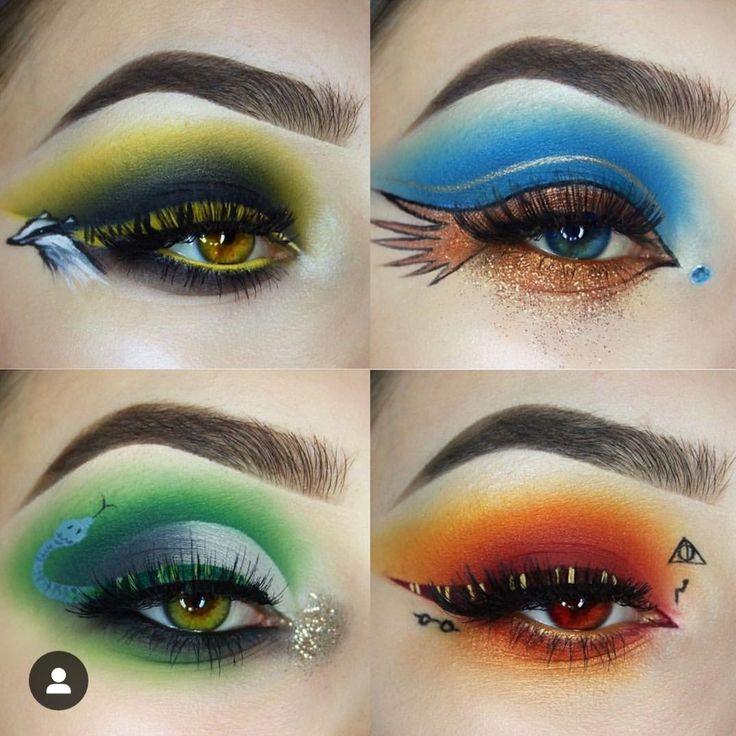 Hogwarts house eye makeup harry potter makeup harry