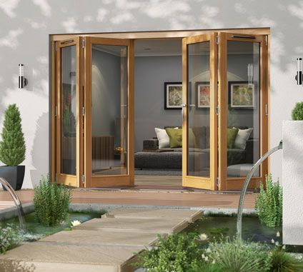 Canberra folding sliding 4 door patio doors products for Sliding barn doors for patio
