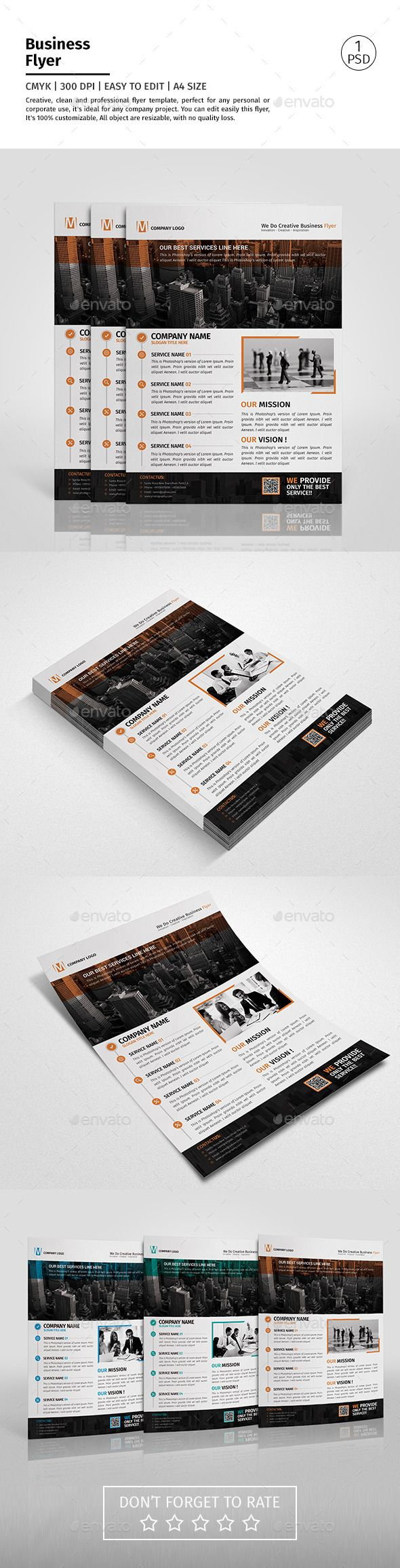 A4 Corporate Business Flyer Template PSD #design Download: http://graphicriver.net/item/a4-corporate-business-flyer-template-vol-08/12795044?ref=ksioks