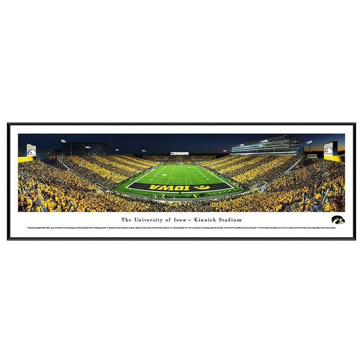 Iowa Hawkeyes Football Stadium Framed Wall Art, Multicolor