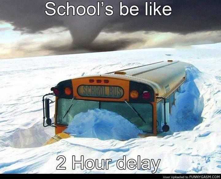 Oh, Oh this looks like more than a 2 hour delay for many Schools!