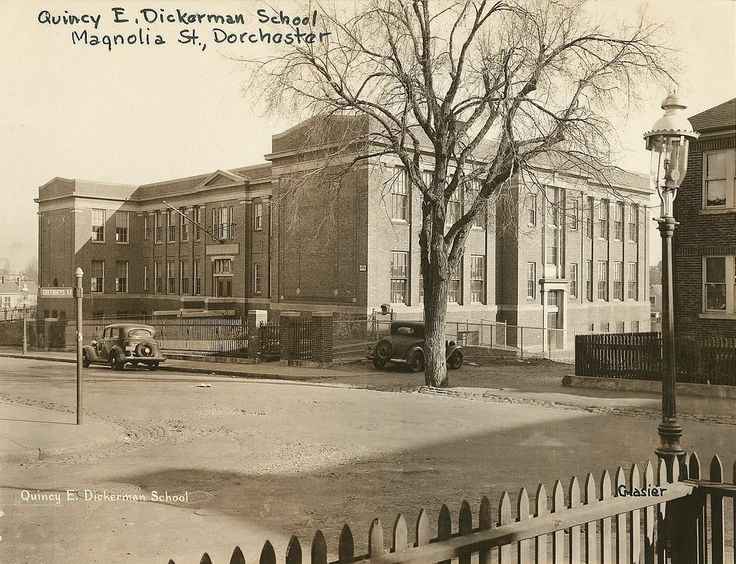https://flic.kr/p/9ktBQX | Quincy E. Dickerman School | Quincy E. Dickerman School, Magnolia St., Dorchester, Boston, MA, School building photographs circa 1920-1960   (Collection # 0403.002), City of Boston Archives