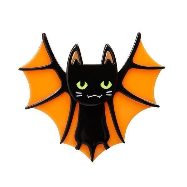 Bat Cat Brooch