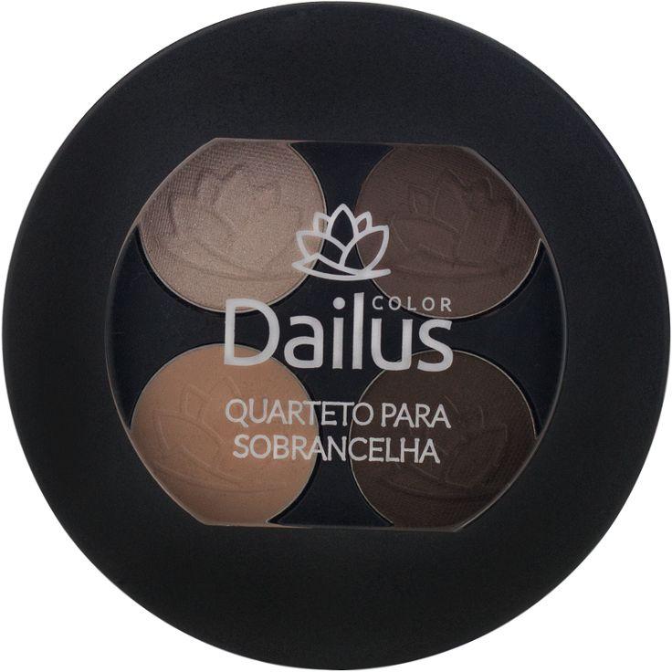 Quarteto para Sobrancelhas Dailus Encanto Cosmeticos