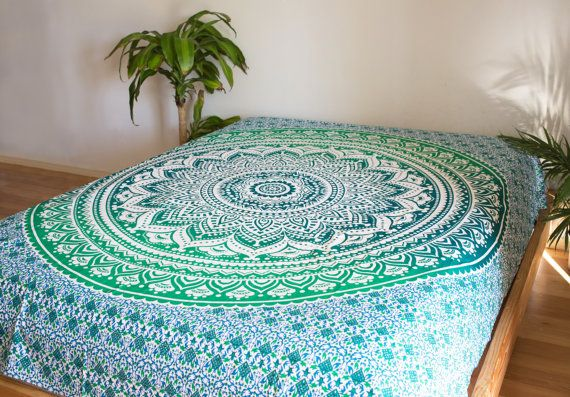"""Beautiful Large Mandala Tapestry!  Size is approximately 80"""" X 88""""  Perfect for hanging on your wall, bedspreads, picnic blankets, beach"""