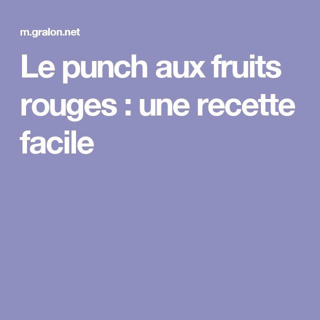 Le punch aux fruits rouges : une recette facile