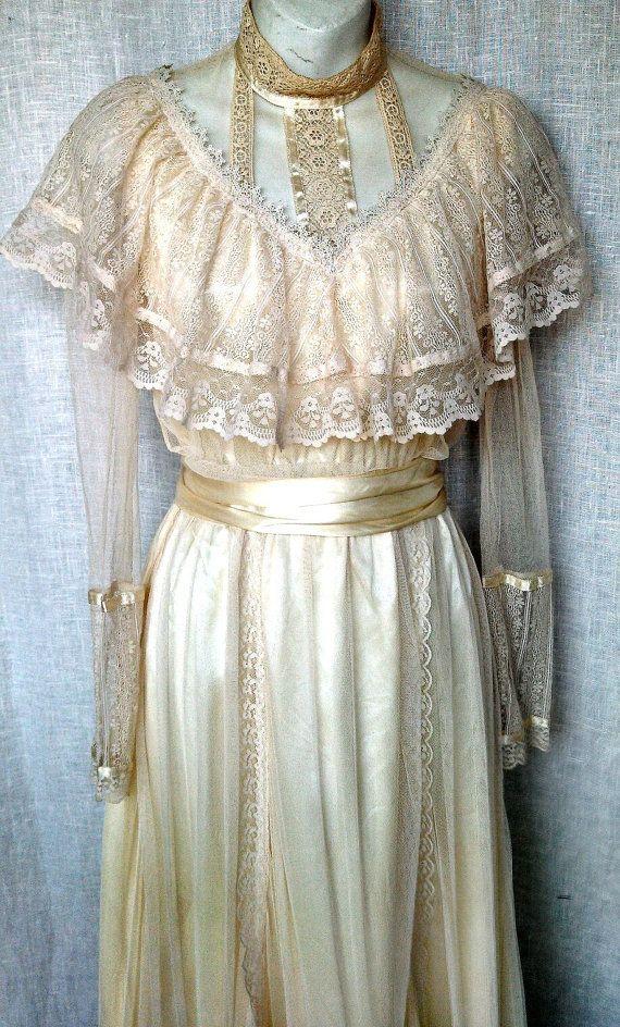 Vintage 70 39 s angelic gunne sax dress wedding gunne sax for Gunne sax wedding dresses