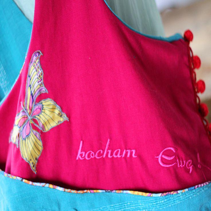 casual bag BOHO EVE,  inscription  embroided KOCHAM EWĘ!