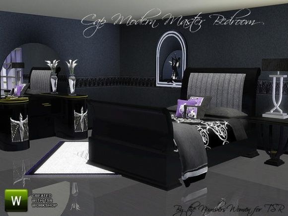 Sims 3 Finds - Cap Modern Master Bedroom by riccinumbers at TSR - 36 Best Sims 3 Decorating Ideas Images On Pinterest