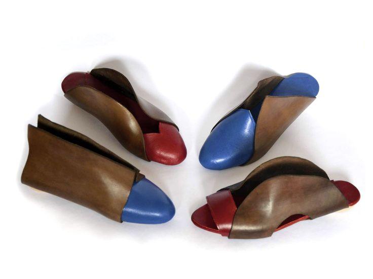 geometry / Leather footwear collection by Hel Kolnikova