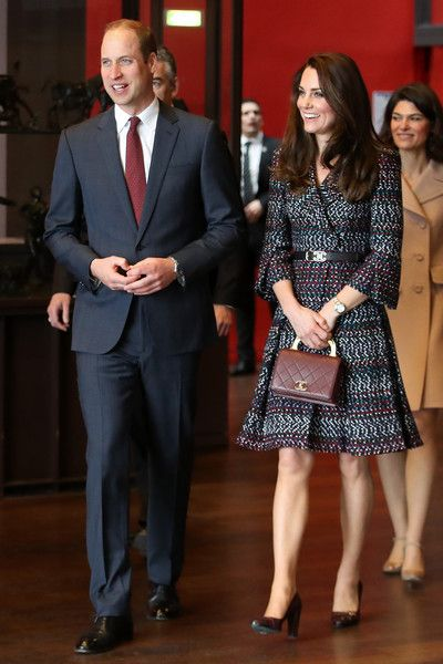 Prince William, Duke of Cambridge and Catherine, Duchess of Cambridge take a tour at Musee d'Orsay during an official two-day visit to Paris on March 18, 2017 in Paris, France.