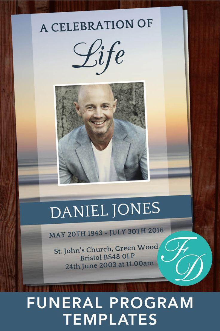 428 best Funeral Programs for Men | Obituary Templates & Prayer ...