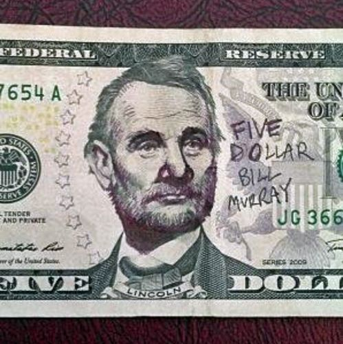 Tastefully Offensive on Tumblr, Five Dollar Bill Murray [via]