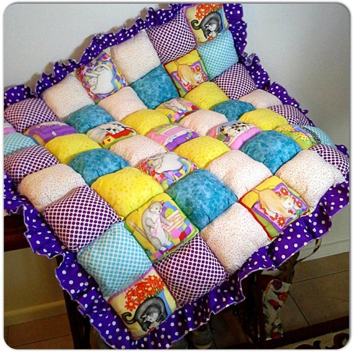 Детское одеяло в технике «Bubble Quilt»