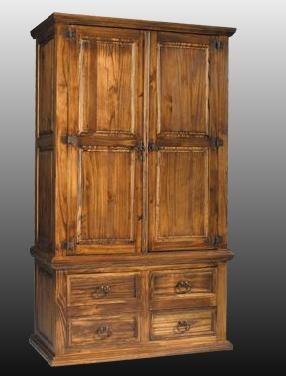 Armario 2 puertas, auténtico mueble rústico mexicano