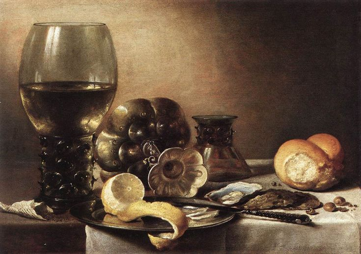 Pieter Claesz--Still Life with Oysters. C. 1633.