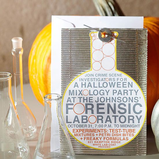 Halloween Event Ideas For Adults: Crime Lab Halloween Party For Adults