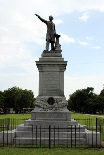 The Jefferson Davis monument on South Jefferson Davis Parkway and Canal Street