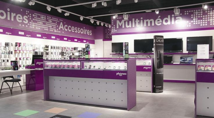 Formica® laminate chosen for Phoneo store, located in Paris (France)